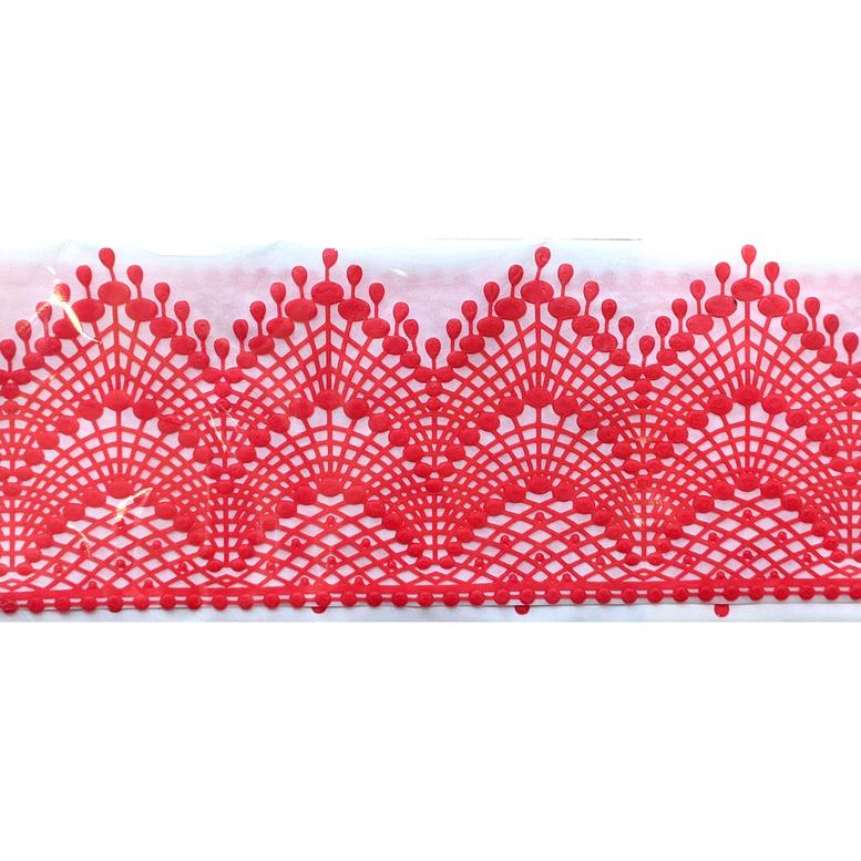 Мереживо для торта 01 (червоне), Slado