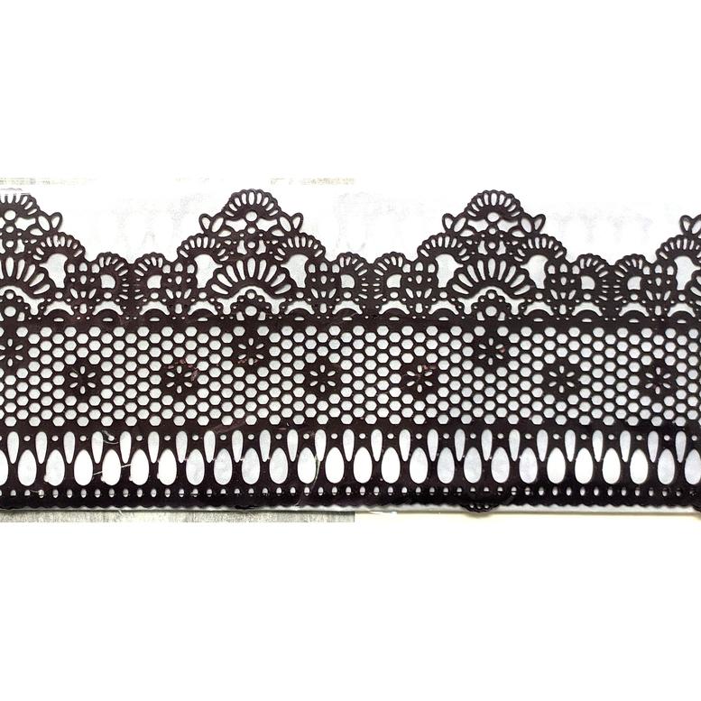 Мереживо для торта 08 (чорне), Slado