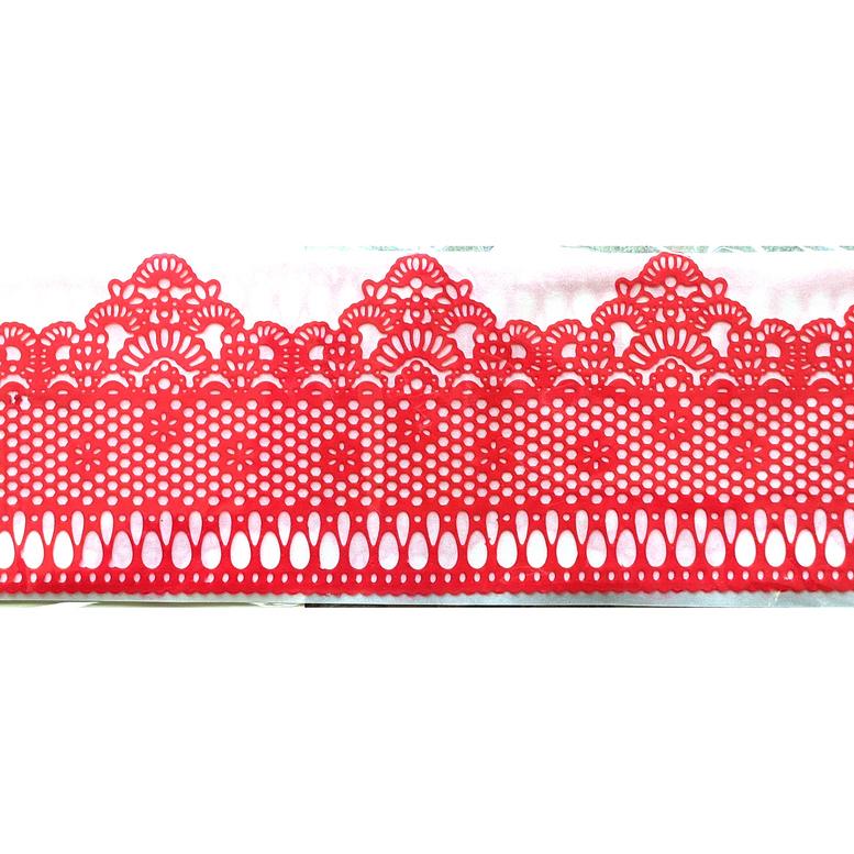Мереживо для торта 08 (червоне), Slado