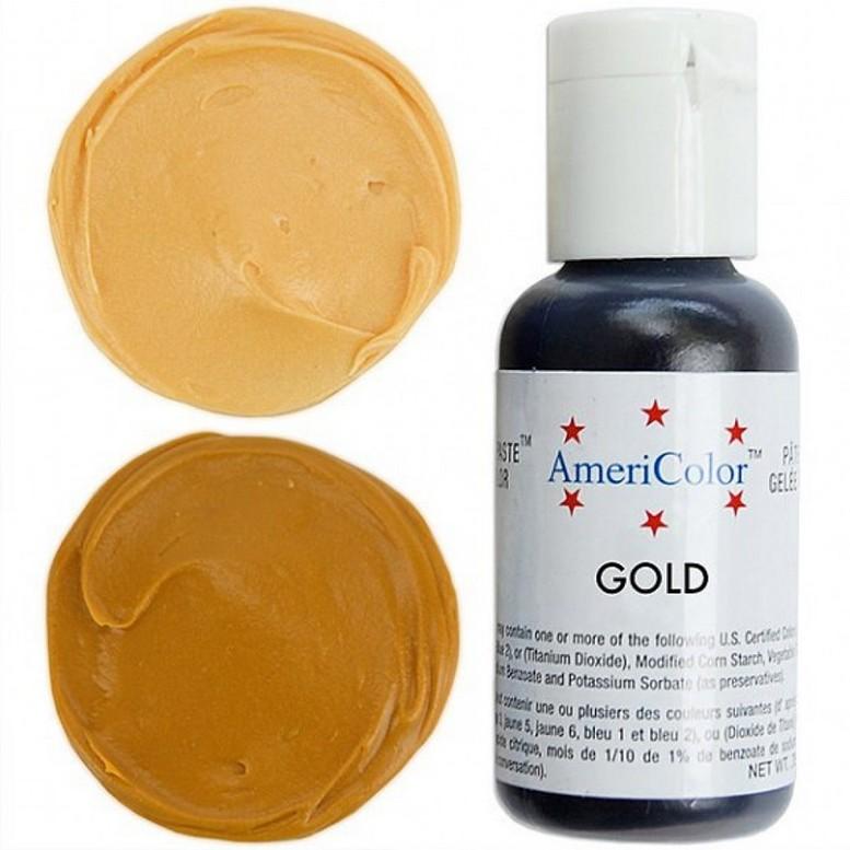 Краситель гелевый Americolor (золотой)