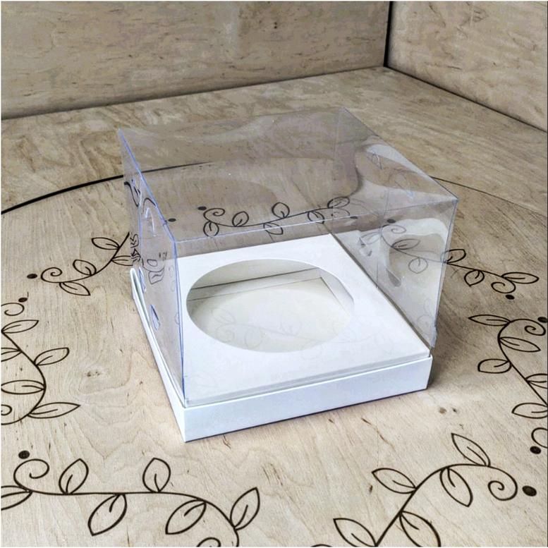 Коробка для паски 180х180х150 прозрачная/ПЭТ, вкл. D150 мм