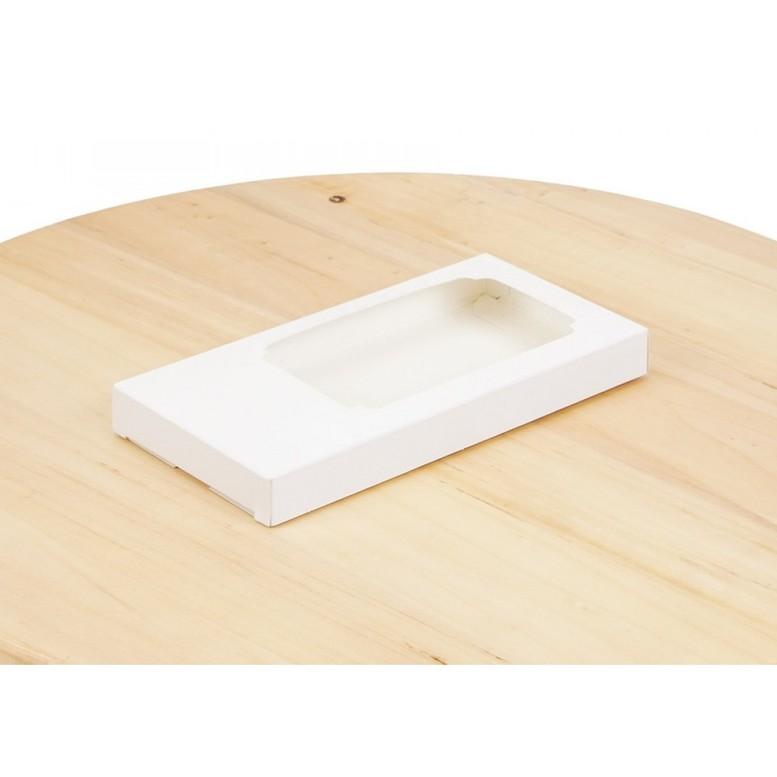 Коробка для шоколаду 160х80х17мм Біла