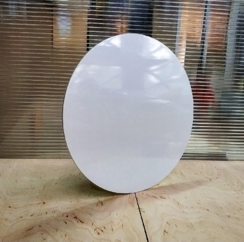 Поднос белый D28 (ДВП/глянец) круглый