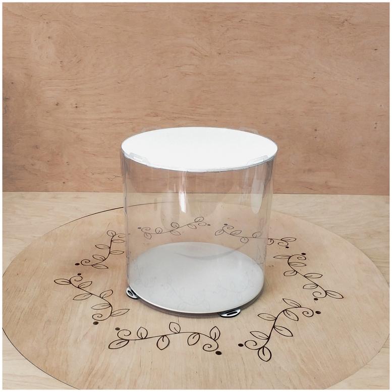 Коробка для торта 250х250х250 (тубус) белая  (1 шт.)