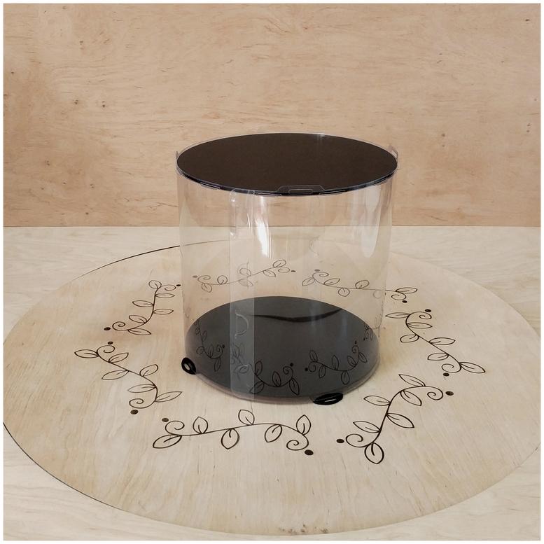 Коробка для торта 250х250х250 (тубус) черная (1 шт.)