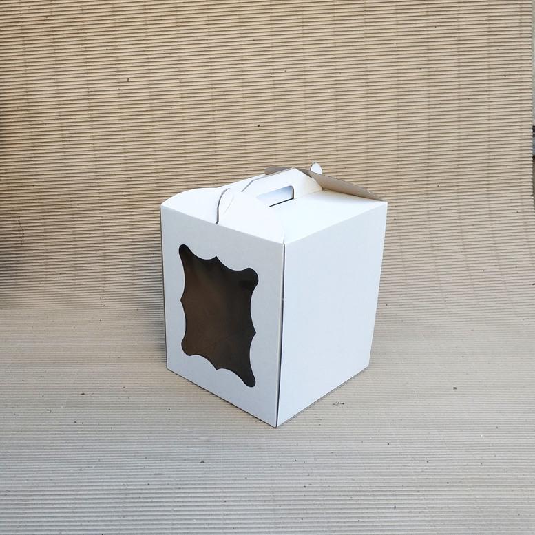 Коробка для торта 250х250х300 белая, м/г.