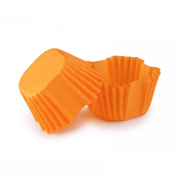 Паперова форма для цукерок та кейк-попсів (27х27х22 мм), помаранчева, 12 шт/уп