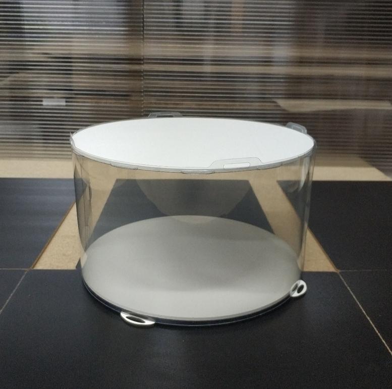 Коробка для торта 250х250х150 (тубус) белая  (1 шт.)