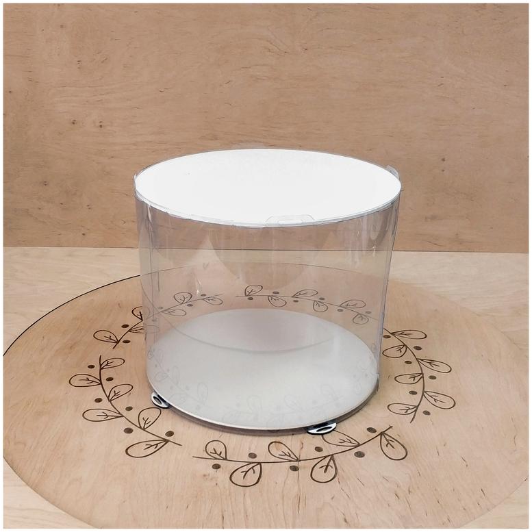 Коробка для торта 300х300х250 (тубус) белая (1 шт.)