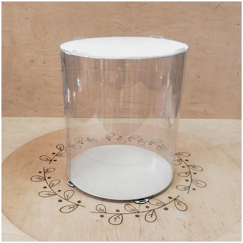 Коробка для торта 300х300х350 (тубус) белая (1 шт.)