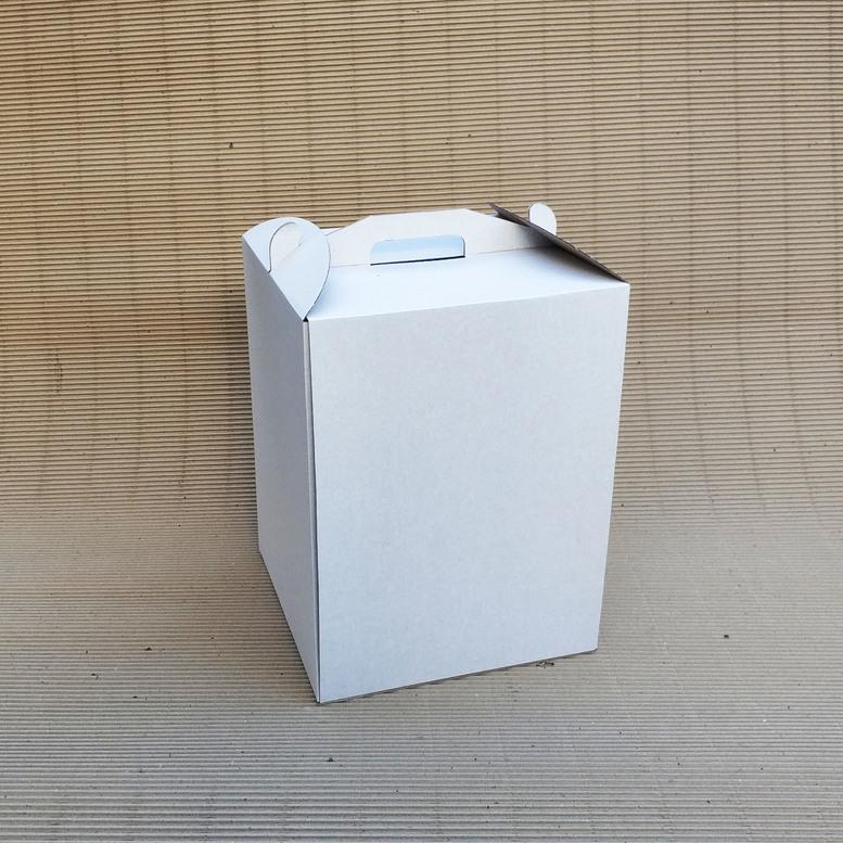 Коробка для торта 300х300х400 белая, м/г.