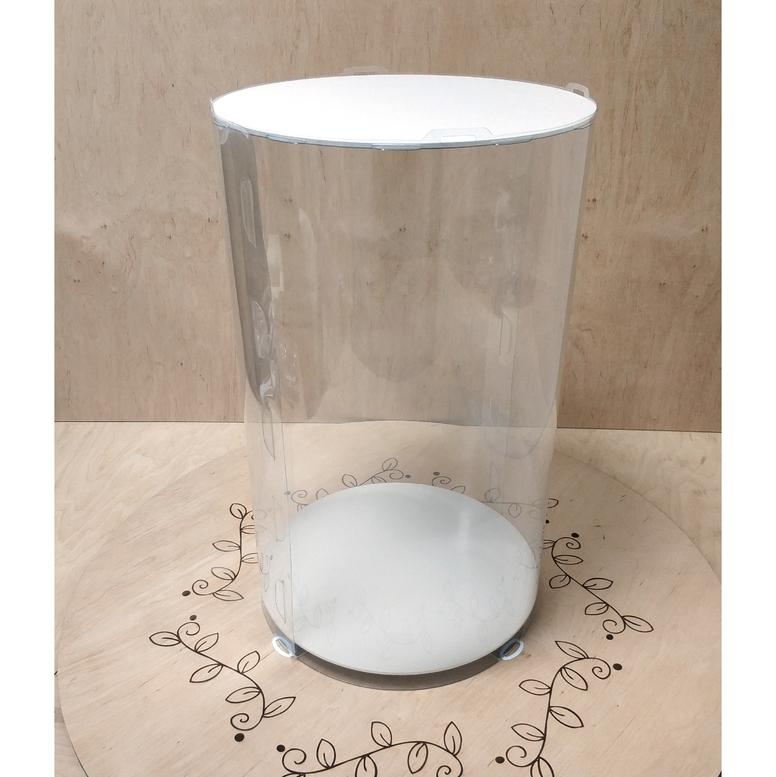 Коробка для торта 300х300х500 (тубус) белая (1 шт.)