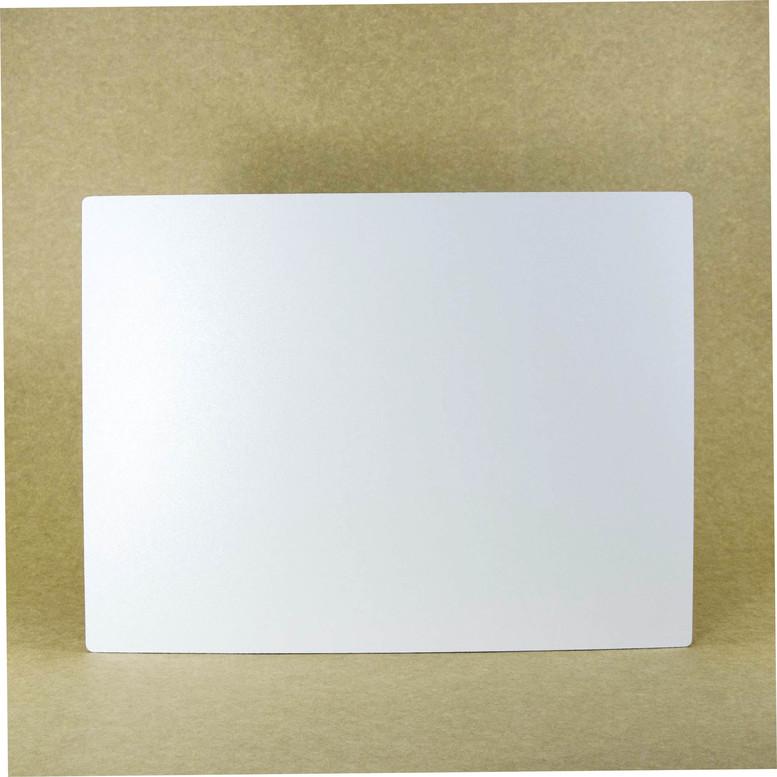 Поднос белый 30х40 ДВП прямоугольный (торец дерево)