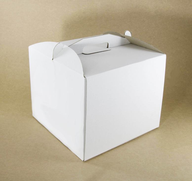 Коробка для торта 300х300х250 белая, м/г.