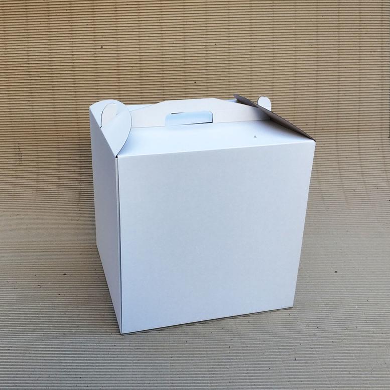 Коробка для торта 350х350х350 белая, м/г.