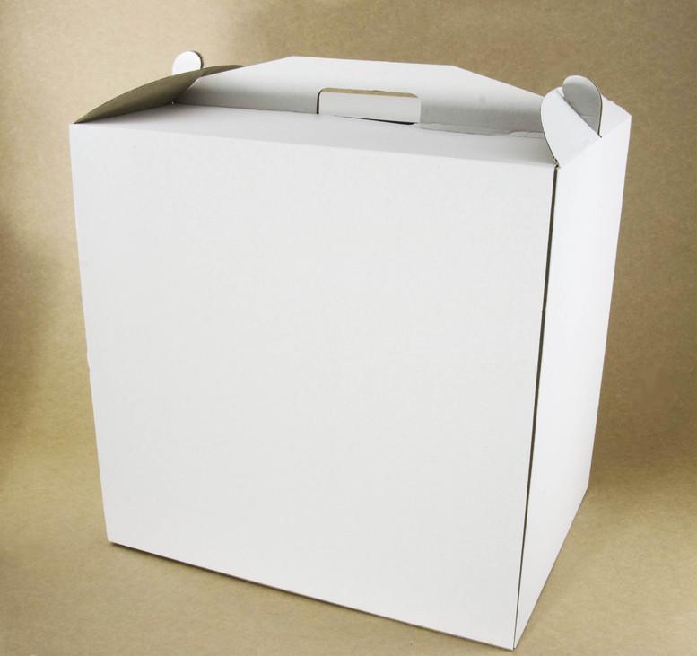 Коробка для торта 450х450х450 белая, м/г.