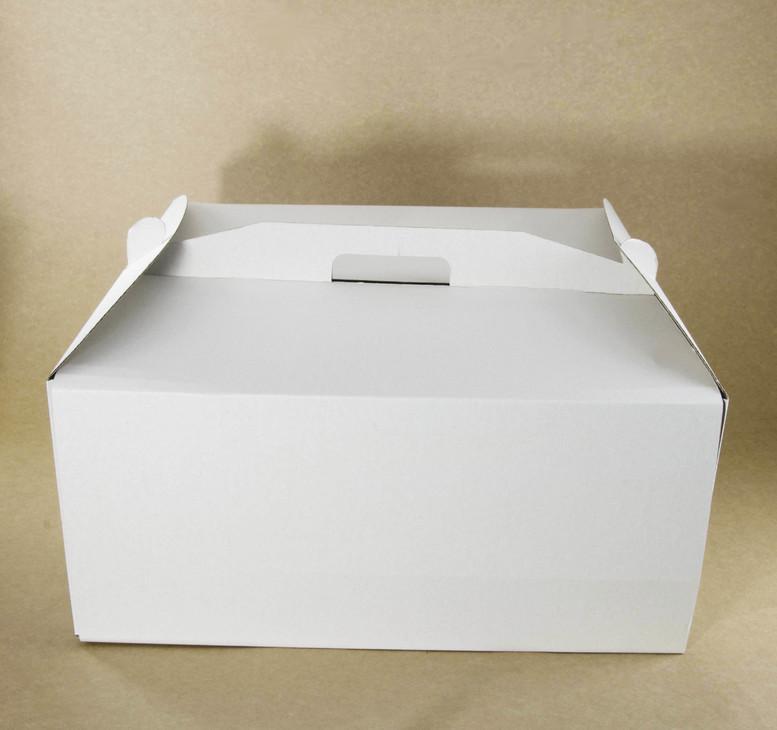 Коробка для торта 230х230х210 белаяс окном, м/г.