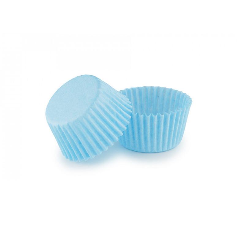 Паперова форма для цукерок 30х24 Блакитна, 18 шт/уп