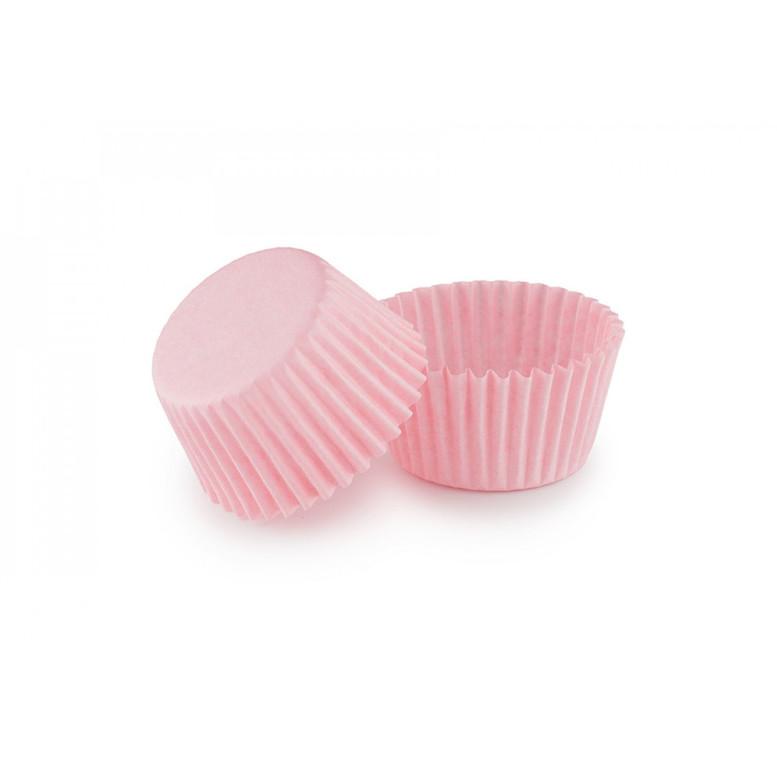 Паперова форма для цукерок 30х24 Світло-рожева, 18 шт/уп