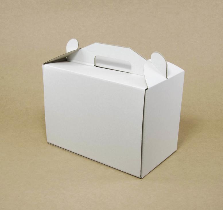 Коробка для торта 400х300х400 белая, м/г.