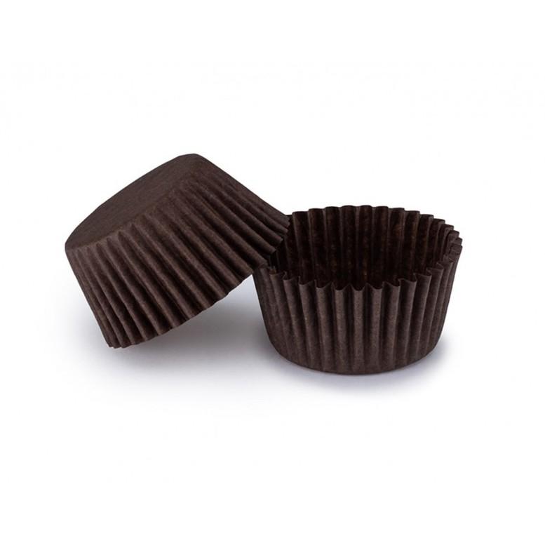 Паперова форма для цукерок 35х20 Коричнева, 20шт/уп