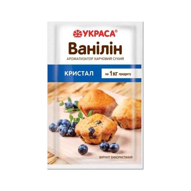 Ванілін Кристал для випічки, 1,5г, ТМ Украса