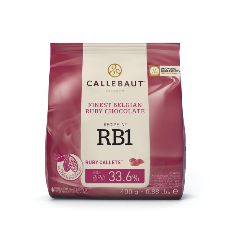 Шоколад Ruby - RB1, ТМ Callebaut, 0,4 кг