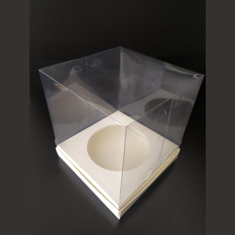 Коробка для паски 180х180х200 прозрачная/ПЭТ, вкл. D130 мм