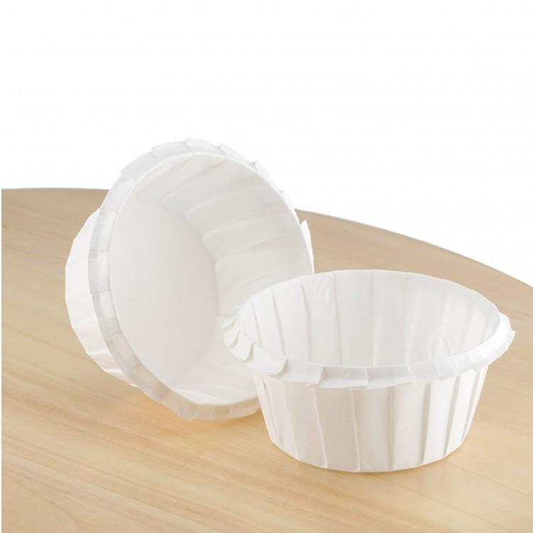 Паперова форма для кексів з посиленим бортиком 55*35 біла, 1шт