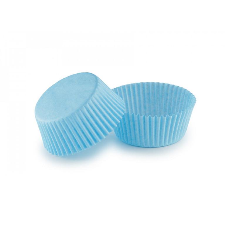 Паперова форма для кексів (50х30) Блакитна, 25 шт/уп