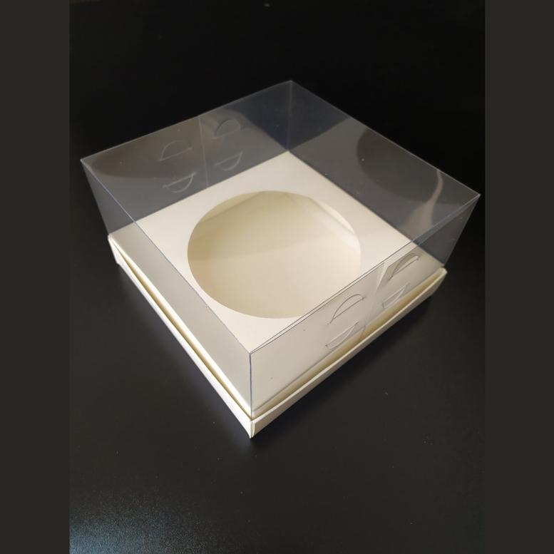 Коробка для паски 180х180х100 прозрачная/ПЭТ, вкл. D130 мм