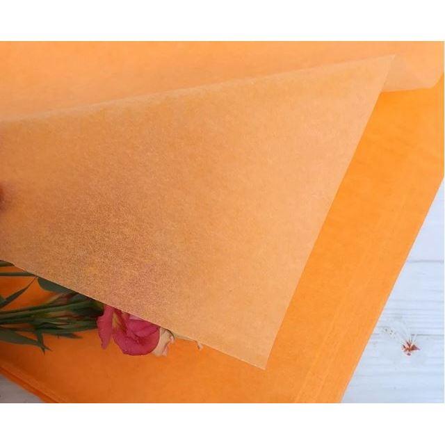 Бумага Тишью 50х75см Апельсин