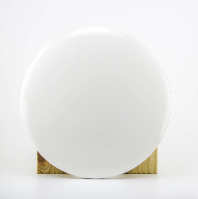 Поднос белый D30 (гофра/глянец) круглый