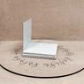 Поднос белый 30х30 ДВП квадратный (торец дерево)