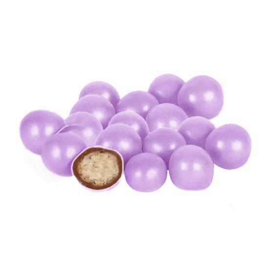 Бисквитные шарики в молочном шоколаде Фиолетовые 1,5см Ovalette, 100г