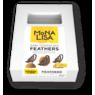 Декор  пір'я темний шоколад Mona Lisa 150*4, 240 гр