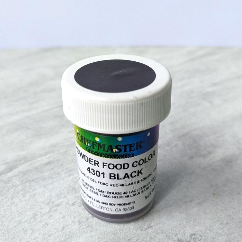 Краситель сухой для шоколада Chefmaster Черный (Black), 3г