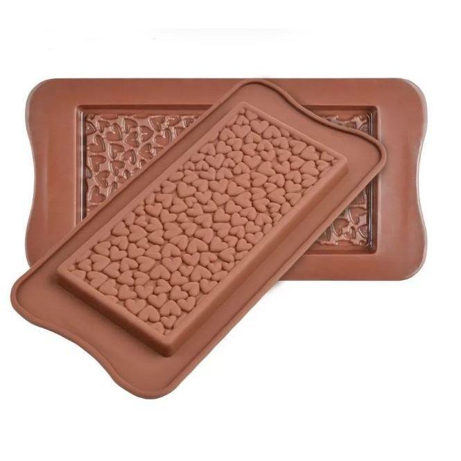 Форма для шоколада Сердечки 21,5х10,5 см