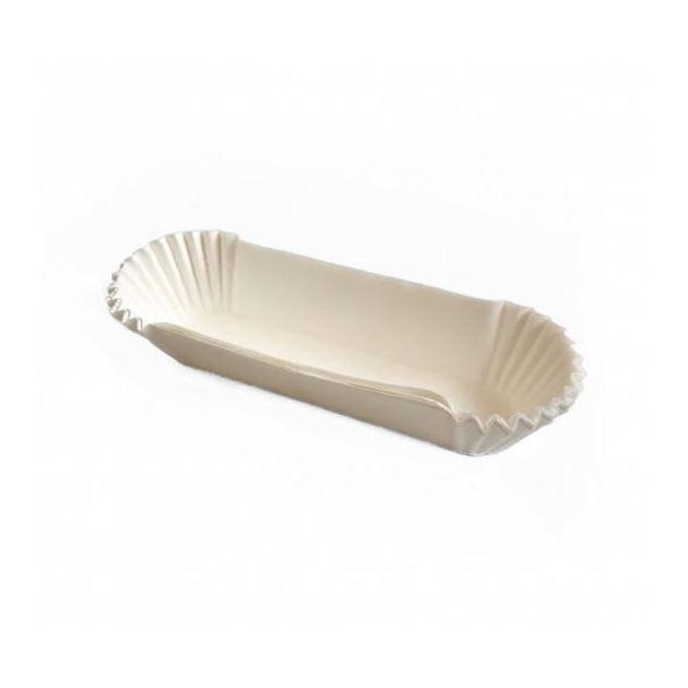 Паперова форма для тістечок та еклерів 130х30 мм, h 30 мм, біла, 10шт/уп