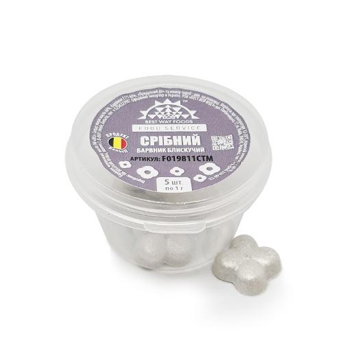 Барвник блискучий срібний 5 г/ Power Flower Sparkle Silver 5 г