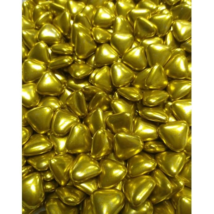Сердечка шоколадні Золоті, 15 мм, Buratti, 50г