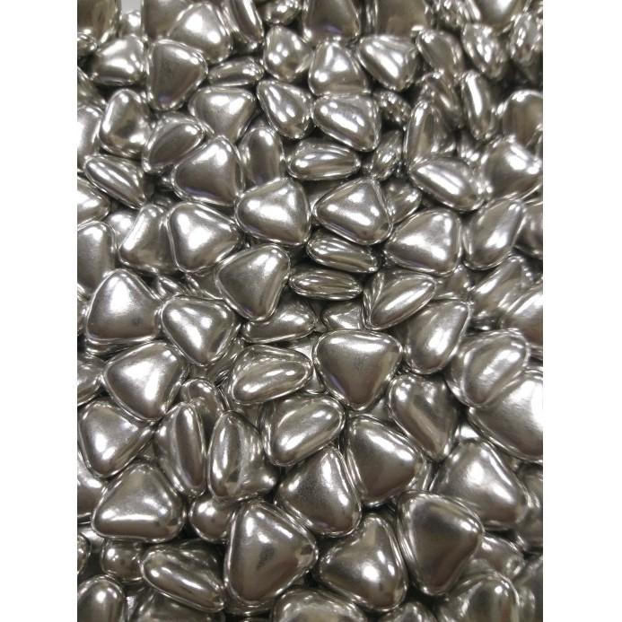 Сердечка шоколадні Срібні, 15 мм, Buratti, 50г