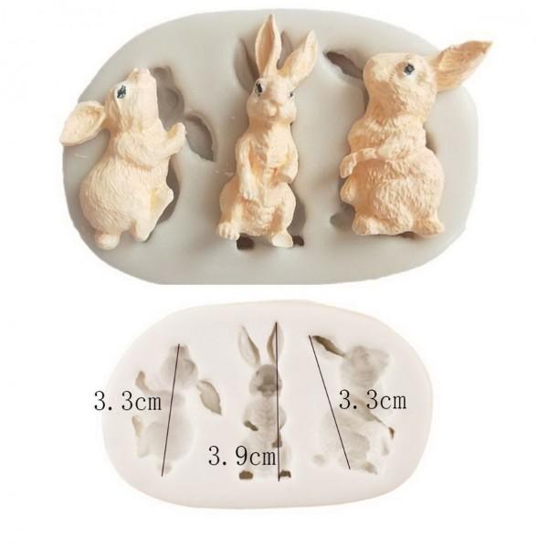 """Молд силиконовый """"3 кролика"""""""