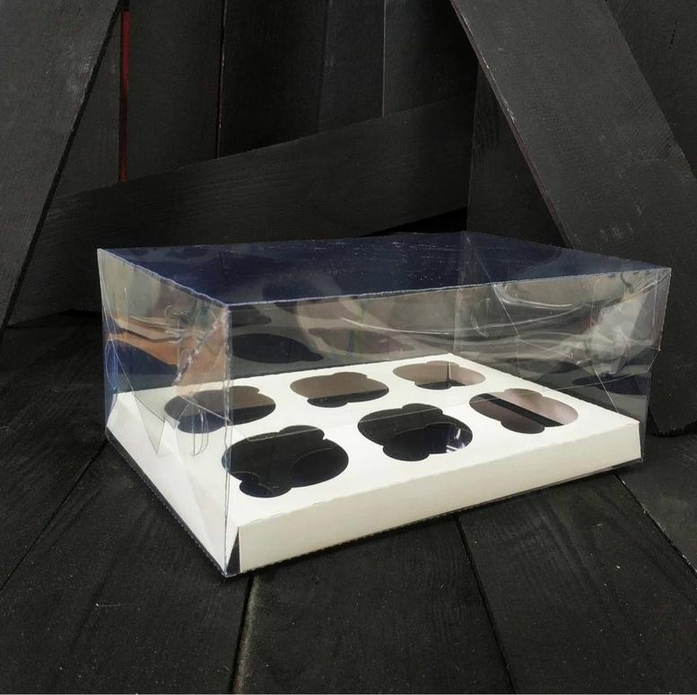 Коробка для 6-ти кексов 260х170х110 прозрачная 1 шт (ПЭТ)