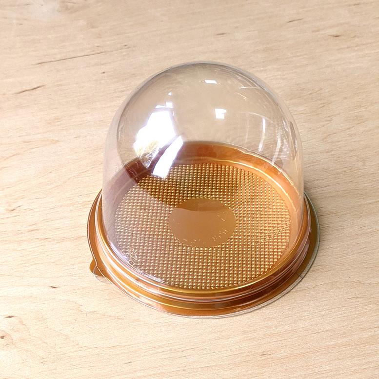 Упаковка для десерта Купол 9х8см Золотая