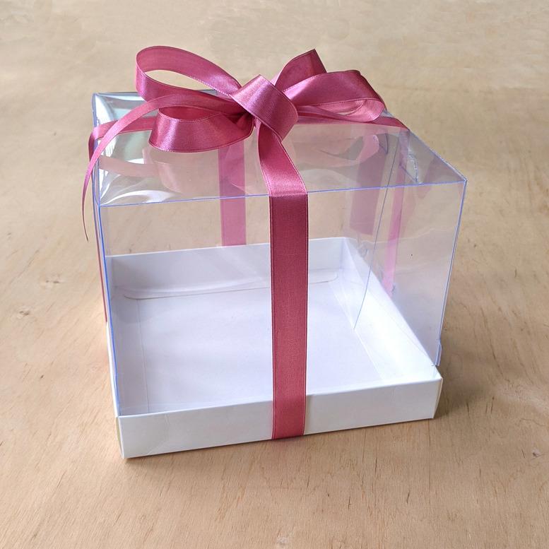 Коробка для десерта 180х180х150 прозрачная/ПЭТ
