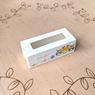 Коробка для 5 макаронс 140х55х45 с окном Совы