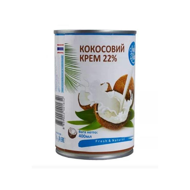 Кокосовые сливки (крем кокосовый) Luck Siam 22%, 400 мл