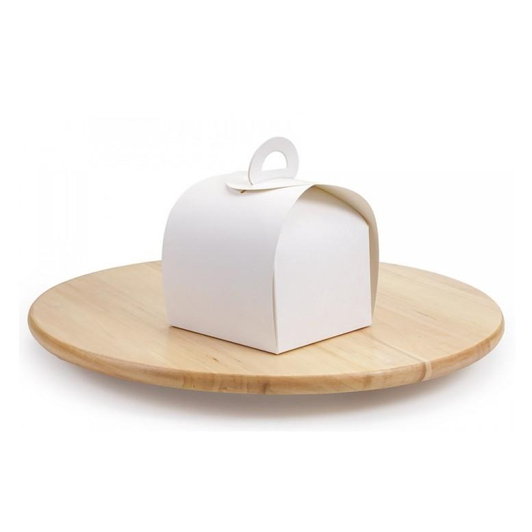 Коробка Сундучок для кондитерских изделий, Белая 110х110х110мм, лам/к