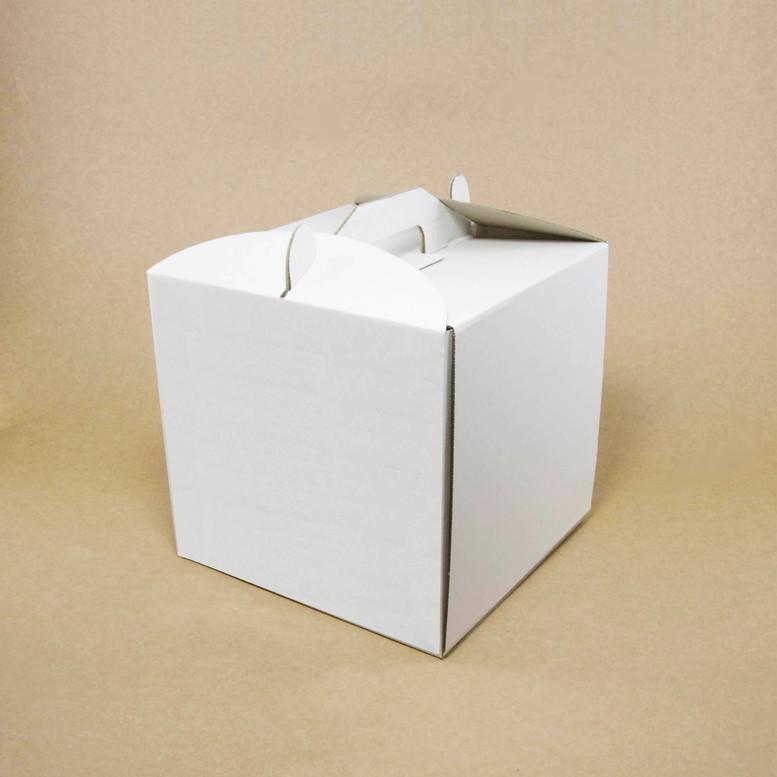 Коробка для торта 400х400х300 белая, м/г.